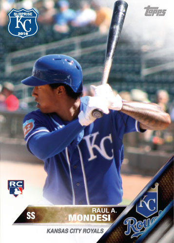 Raul Mondesi Jr. 2016 Spring Training Kansas City Royals custom card