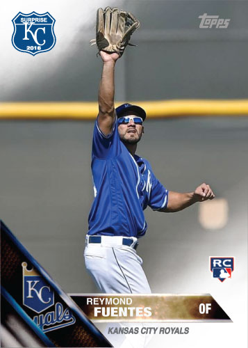 Reymond Fuentes 2016 Spring Training Kansas City Royals custom card