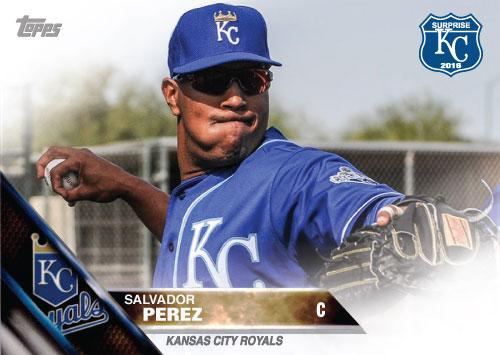 Salvador Perez 2016 Spring Training Kansas City Royals custom card