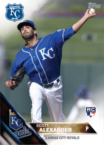 Scott Alexander 2016 Spring Training Kansas City Royals custom card