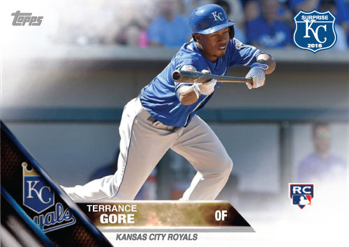 Terrance Gore 2016 Spring Training Kansas City Royals custom card