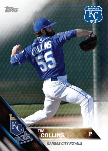 Tim Collins 2016 Spring Training Kansas City Royals custom card