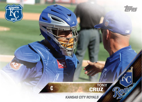 Tony Cruz 2016 Spring Training Kansas City Royals custom card