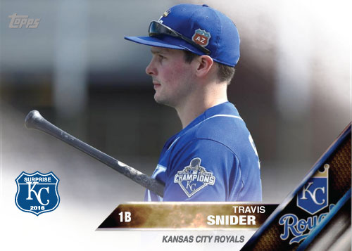 Travis Snider 2016 Spring Training Kansas City Royals custom card