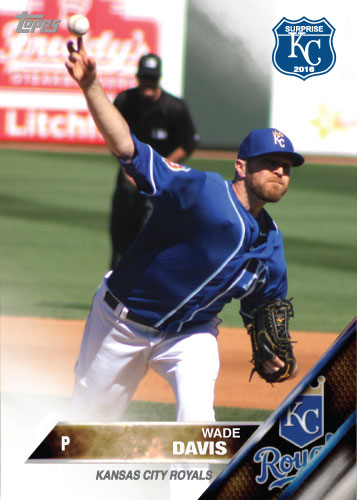 Wade Davis 2016 Spring Training Kansas City Royals custom card