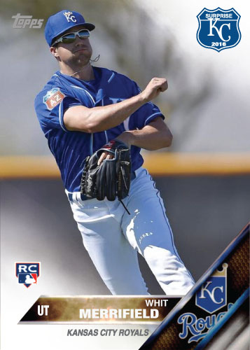 Whit Merrifield 2016 Spring Training Kansas City Royals custom card