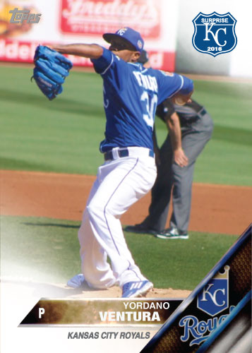 Yordano Ventura 2016 Spring Training Kansas City Royals custom card