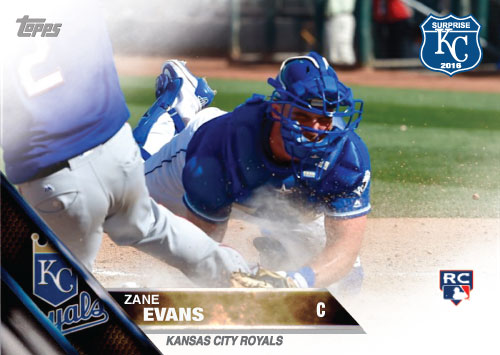 Zane Evans 2016 Spring Training Kansas City Royals custom card