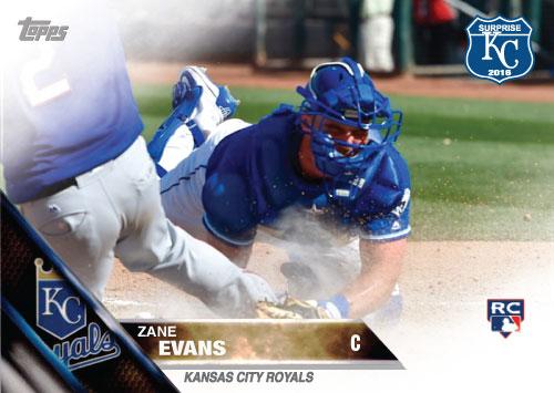 Zane Evans 2016 Spring Training Kansas City Royals custom card