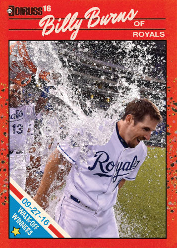 Billy Burns Walk Off Winners 9/27/16 custom card