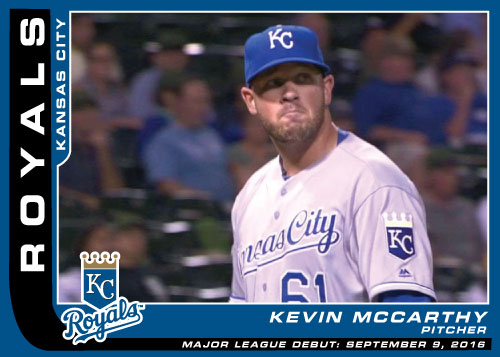Major League Debut Royals custom card - Kevin McCarthy