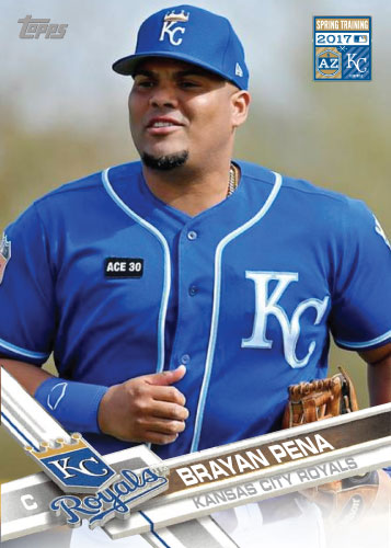 Brayan Pena 2017 Royals Spring Training custom card