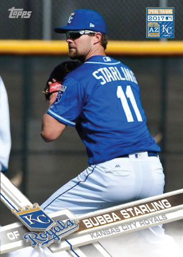 Bubba Starling 2017 Royals Spring Training custom card