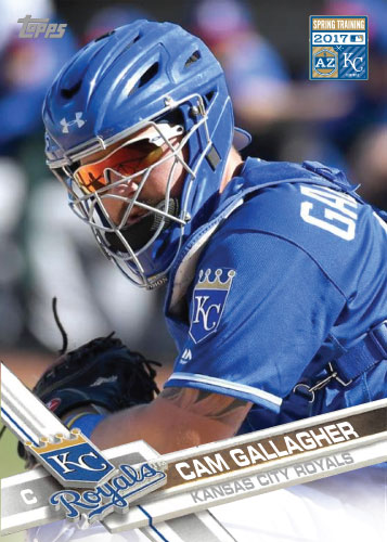 Cam Gallagher 2017 Royals Spring Training custom card