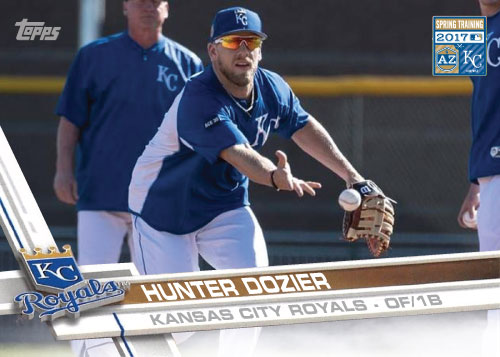 Hunter Dozier 2017 Royals Spring Training custom card
