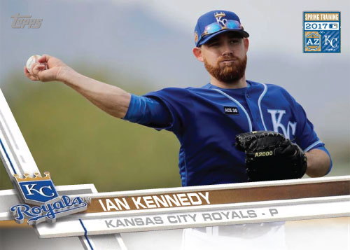 Ian Kennedy 2016 Royals Spring Training custom card