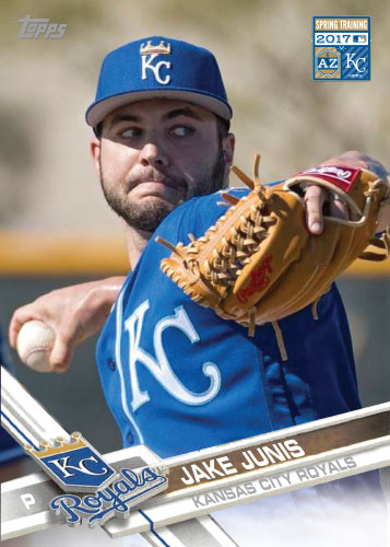 Jake Junis 2017 Royals Spring Training custom card