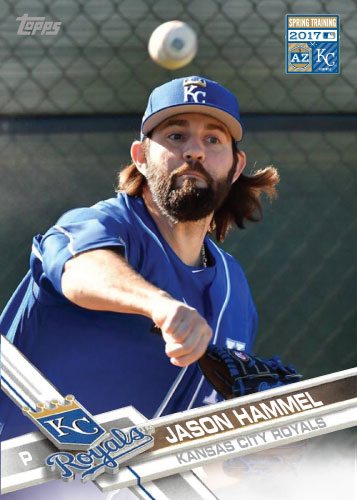 Jason Hammel 2016 Royals Spring Training custom card