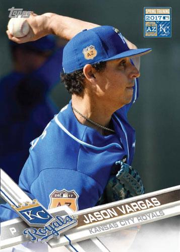 Jason Vargas 2016 Royals Spring Training custom card