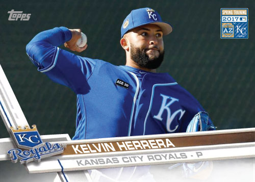 Kelvin Herrera 2016 Royals Spring Training custom card