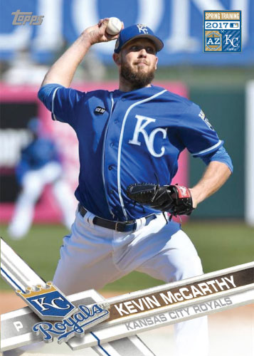 Kevin McCarthy 2017 Royals Spring Training custom card