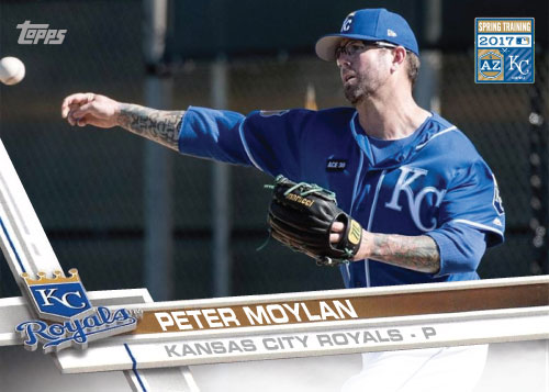 Peter Moylan 2017 Royals Spring Training custom card