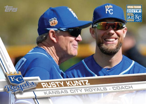 Rusty Kuntz 2017 Royals Spring Training custom card