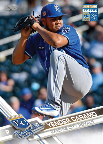 Yender Caramo 2017 Royals Spring Training custom card