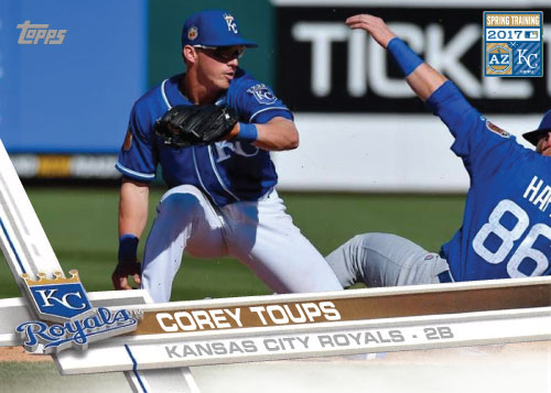Corey Toups 2017 Royals Spring Training custom card