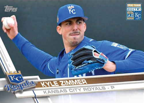 Kyle Zimmer 2017 Royals Spring Training custom card