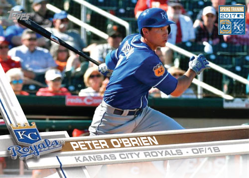 Peter O'Brien 2017 Royals Spring Training custom card
