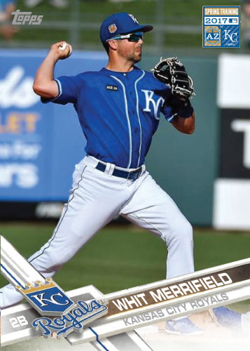 Whit Merriefield 2017 Royals Spring Training custom card
