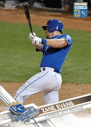 Zane Evans 2017 Royals Spring Training custom card