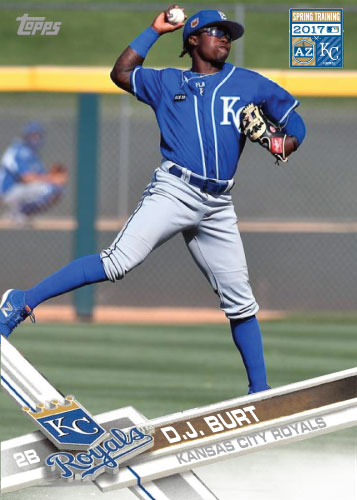 D.J. Burt 2017 Royals Spring Training custom card
