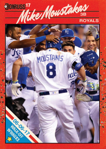 Mike Moustakas Royals walk-off winners custom card for 6/6/17